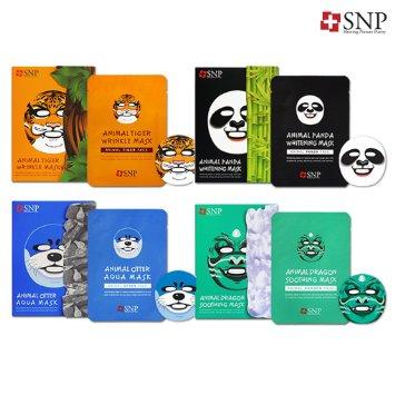 韓國 SNP Animal Mask 動物面膜 25ML 單片 海豹(補水)/龍(抗敏)/熊貓(美白)/老虎(抗皺) ☆真愛香水★