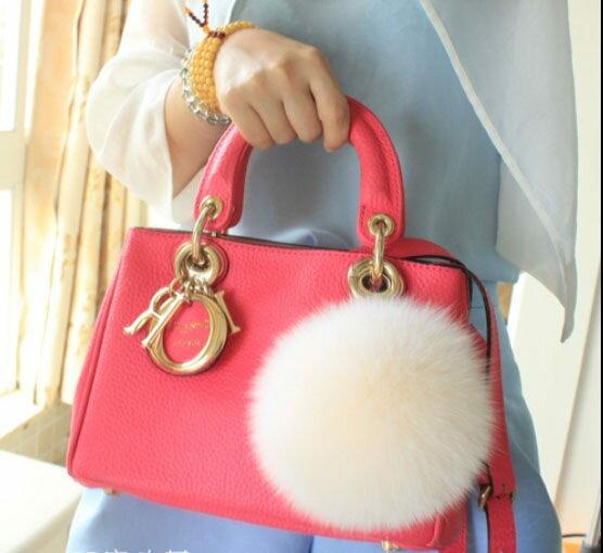 日韓連線超大狐狸毛球包包掛飾不是fendi吊飾010685代購海渡
