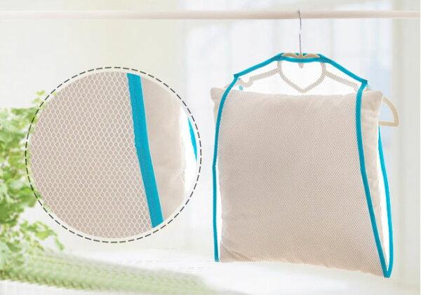 【酷創意】晾曬網套 靠墊晾曬袋晾衣架曬衣架 固定曬枕架曬枕頭架子E130