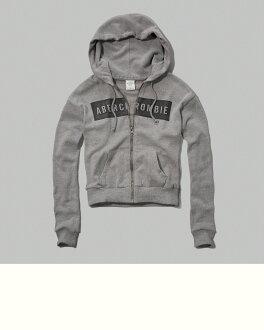 A&F 女 外套 連帽 長袖 (灰)