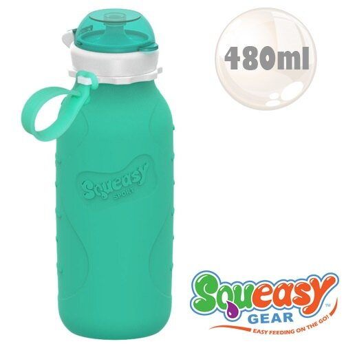 美國【Squeasy】QQ隨身瓶-480ml 水藍 0