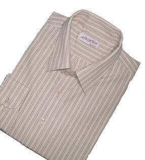 【魔法施】AYBORTEH★加大碼 M~2L(領圍15.5~18.5吋)★風格高雅直線條紋長袖襯衫★