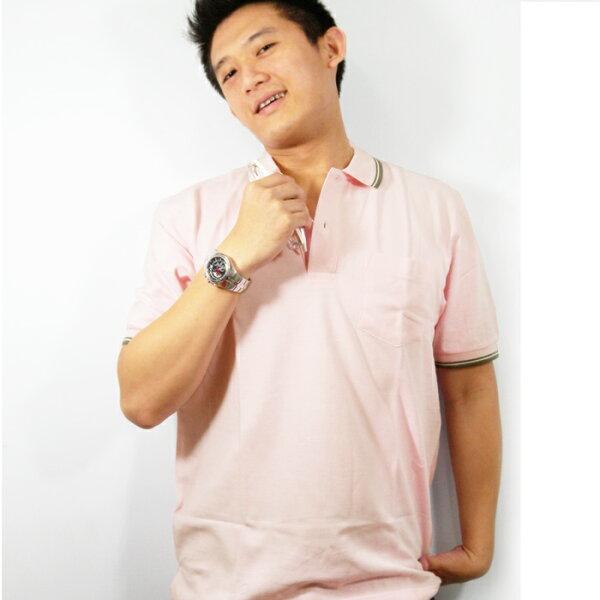 【魔法施】AYBORTEH都會時尚舒適透氣粉紅POLO衫