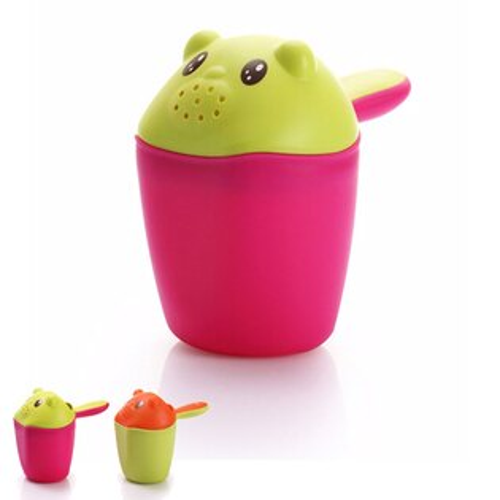 【奇買親子購物網】baby hood 小熊熊洗頭杯(綠色/桃紅色)