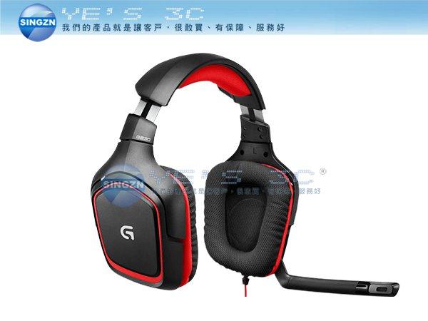 「YEs 3C」LOGITECH 羅技 G230 遊戲耳機麥克風 電競 立體聲 線控 輕盈 折疊式MIC 有發票  yes3c
