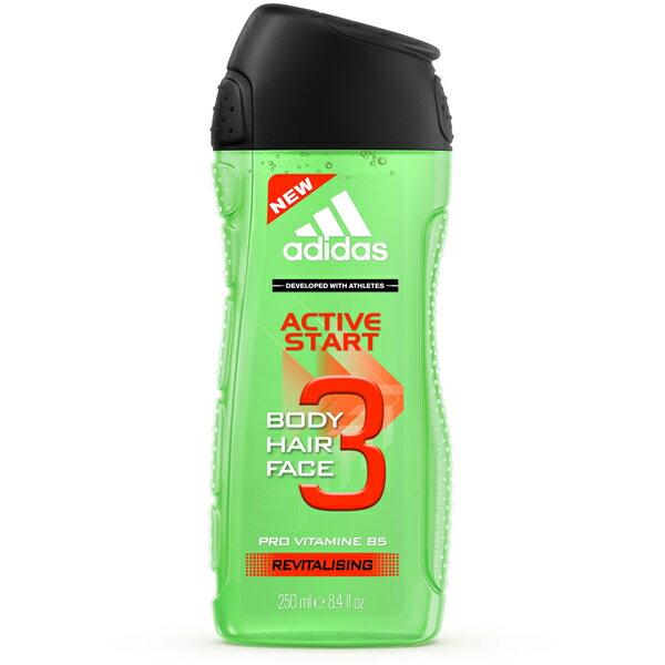 *優惠促銷*愛迪達男用三效能量洗髮沐浴露《康是美》