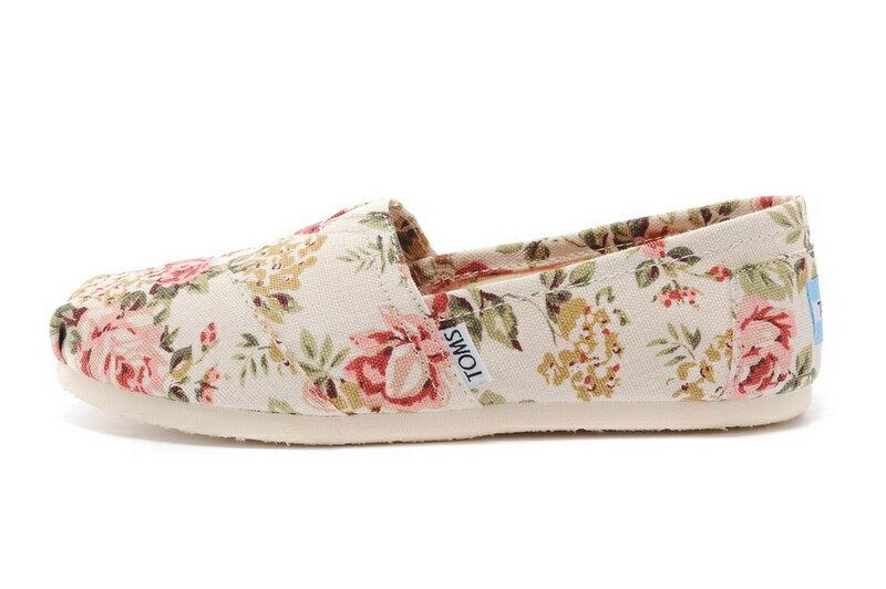 【TOMS】茉莉花帆布平底休閒鞋  Shabby Chic Women's Classic 3