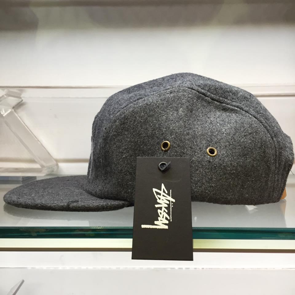 BEETLE STUSSY STOCK WOOL CAMP CAP 灰白 羊毛 麂皮 五分帽 刺繡 LOGO 素面 1