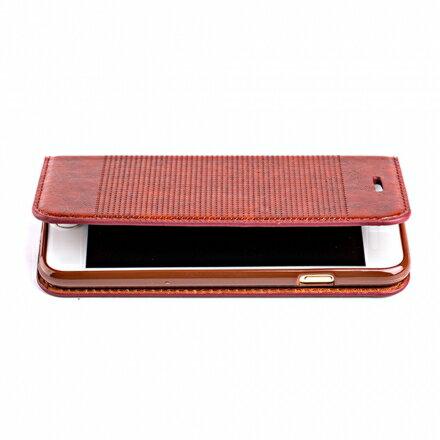 三星 Samsung Galaxy S7 edge 輕薄皮革壓紋真皮質感皮套 側掀磁吸皮夾支架式皮套 1