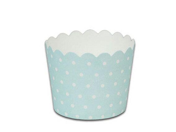 瑪芬杯、杯子蛋糕、烘烤紙杯 MF6256-05 藍底圓點(50pcs/包)