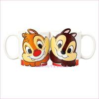 asdfkitty可愛家☆迪士尼奇奇蒂蒂花栗鼠陶瓷對杯組/馬克杯組-日本正版商品