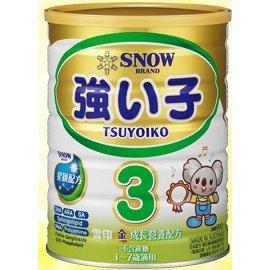 『121婦嬰用品』雪印金強子成長奶粉3號900克(12罐組,再送2罐再送玩具) 0