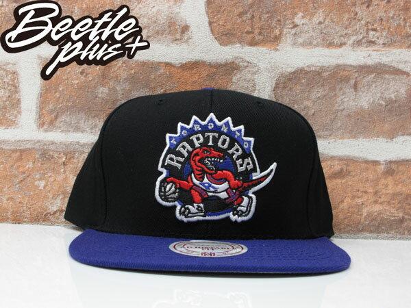 BEETLE MITCHELL&NESS NBA TORONTO RAPTORS LOGO SNAPBACK 多倫多 暴龍 黑紫 後扣棒球帽 0
