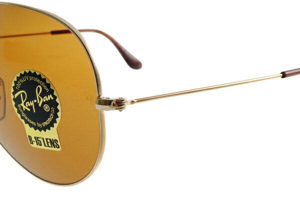 Ray Ban 雷朋 金邊茶色鏡片 RB3025 太陽眼鏡 4