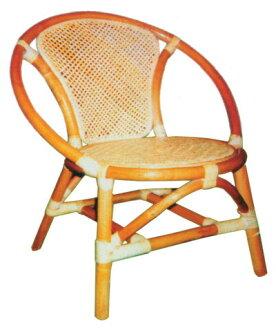 圓貝殼小孩藤椅