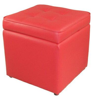 MSL 休閒沙發椅凳^(紅色^) ~  好康折扣