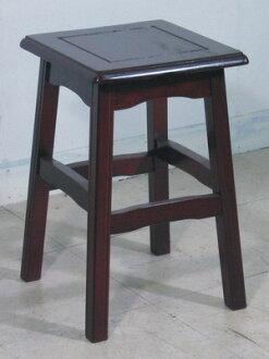 唐式原木餐椅(方型)