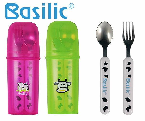 『121婦嬰用品館』Basilic 乳牛不銹鋼叉匙組 0