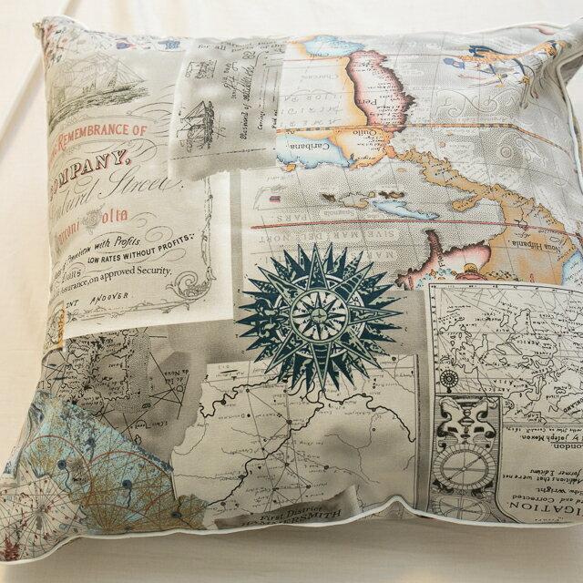 世界地圖抱枕  45cmx45cm 精選素材 復古 純棉 2