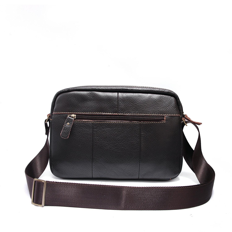 【BEIBAOBAO】韓版質感真皮側背包(共兩色  時尚黑) 4
