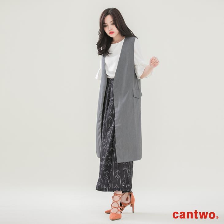 cantwo長版西裝背心(共二色) 0