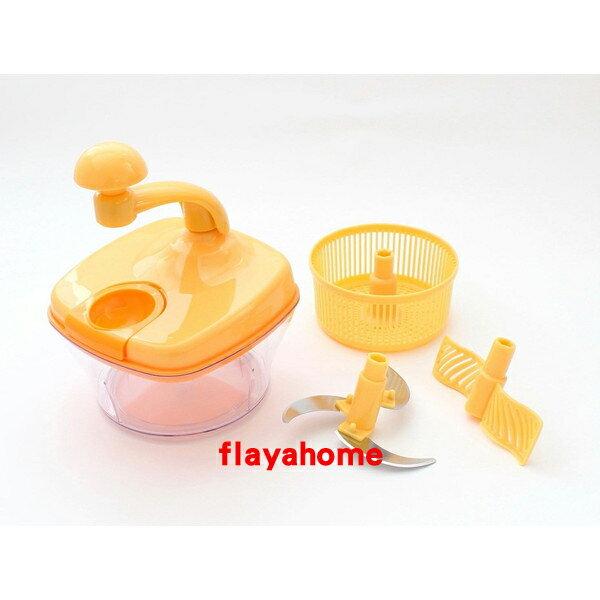 《富樂雅居》日本 貝印KAI 便利調理三功能組 黃色 ( 蔬菜脫水器、蔬菜切碎器、蛋白攪拌器 )