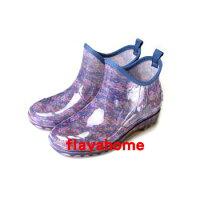 下雨天推薦雨靴/雨傘/雨衣推薦《富樂雅居》日本製 防水雨鞋 天然橡膠鞋 短雨靴/時尚藍紫