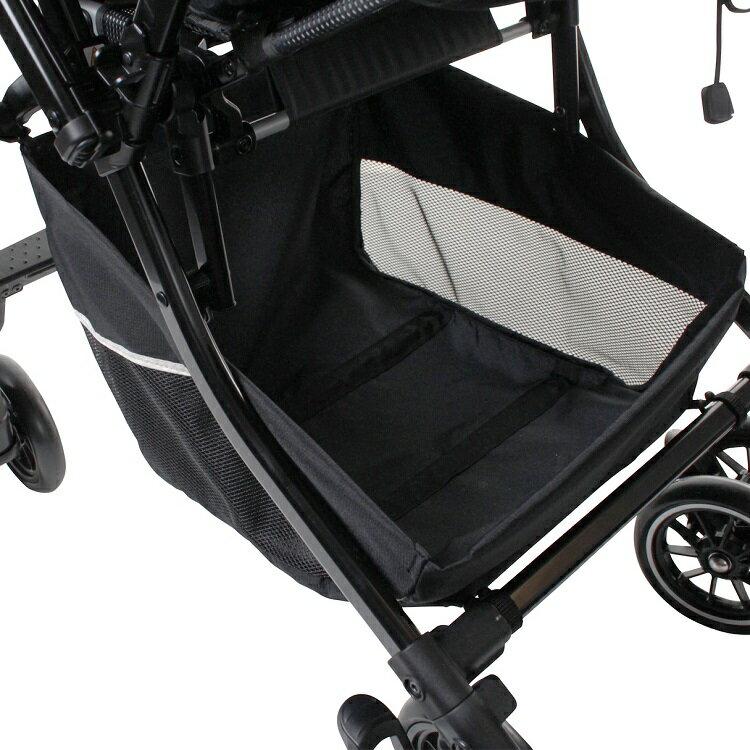 Combi康貝 - Handy Auto 4 Cas PLUS 輕量四輪自動鎖放手推車 -水晶黑 8