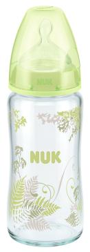 『121婦嬰用品館』NUK 寬口徑玻璃奶瓶 - 240ml (1號中圓洞) 1