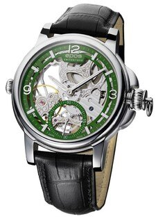 epos 愛寶時 3429.195.20.53.25FB 巴賽爾藝術系列三次元限量鏤空機械腕錶/綠面45mm