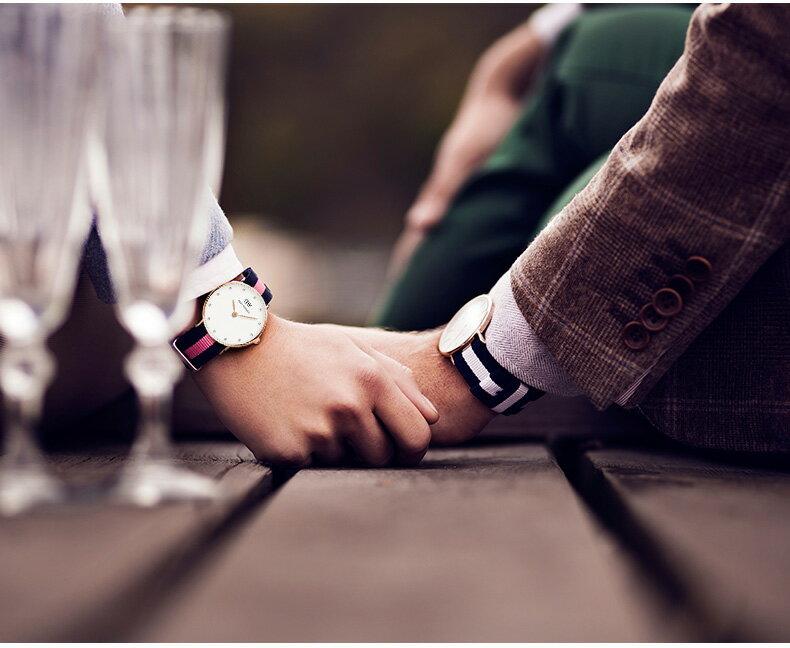 瑞典正品代購 Daniel Wellington 0952DW  玫瑰金 尼龍 帆布錶帶 女錶手錶腕錶 26MM 5