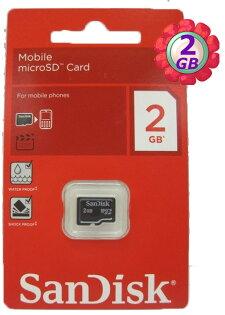 原廠密封包裝 SanDisk 2GB 2G microSDHC microSD micro SDHC 記憶卡 手機記憶卡