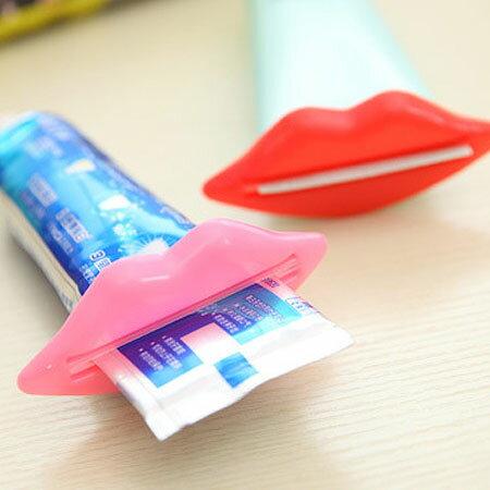 性感嘴唇擠牙膏器 (不挑色) 多用牙膏擠壓器 嘴唇造型 擠洗面乳器【N101290】