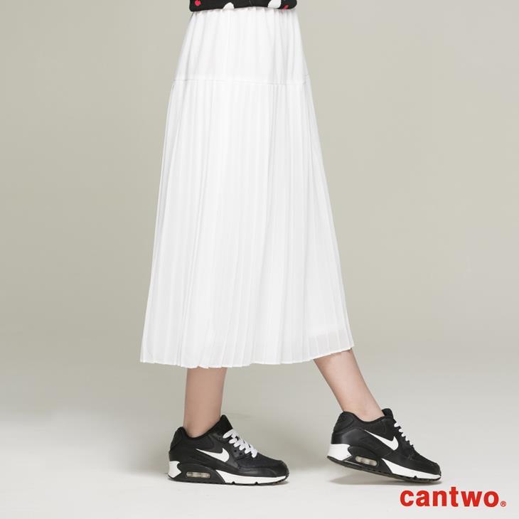 cantwo雪紡細褶長裙(共二色) 2