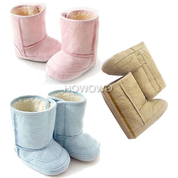 寶寶鞋 仿麂皮軟底羊羔絨防滑嬰兒學步鞋/寶寶雪靴(11-13cm)   MIY0084
