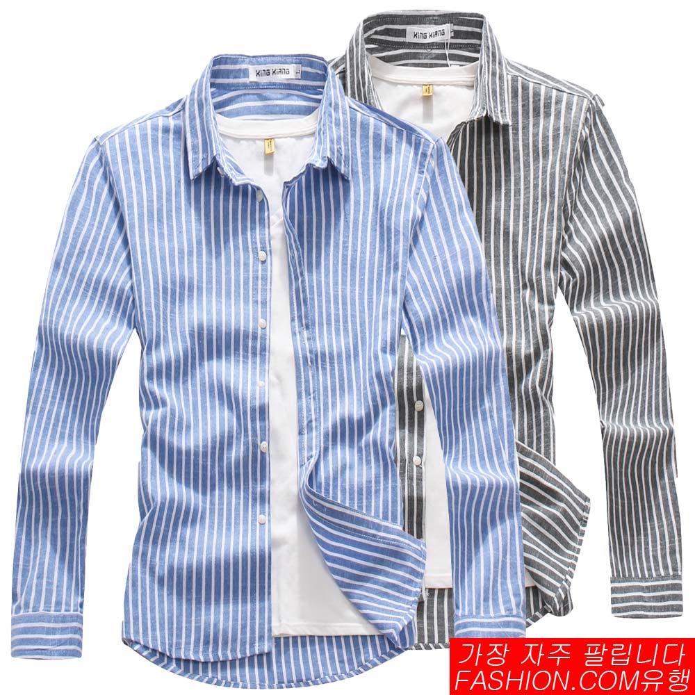DITION 職人商務粗直條紋極簡長袖襯衫 0