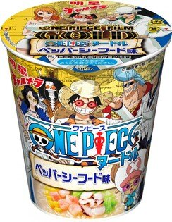 【橘町五丁目】日本海賊王胡椒海鮮杯麵 71G -  ONE PIECE FILM GOLD