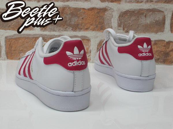 女生 BEETLE SUPERSTAR FOUNDATION J 愛迪達 金標 白粉 桃紅 復古 休閒鞋 B23644 2