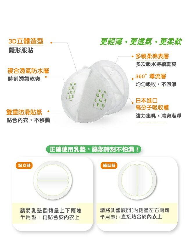 nac nac - 3D隱形防溢乳墊 30+6入 (獨立包裝) 2