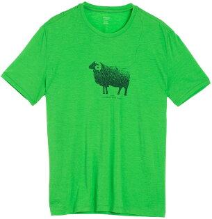 Icebreaker 排汗衣/短袖T恤/美麗諾羊毛 Tech Lite 男圓領短袖上衣103280-301 綿羊綠