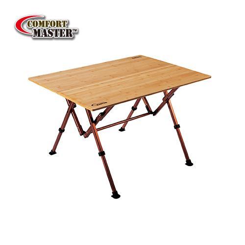 【露營趣】中和 附野餐籃 Coleman CM-7006J 舒適達人休閒竹桌/100 休閒桌 竹板桌 摺桌 摺疊桌