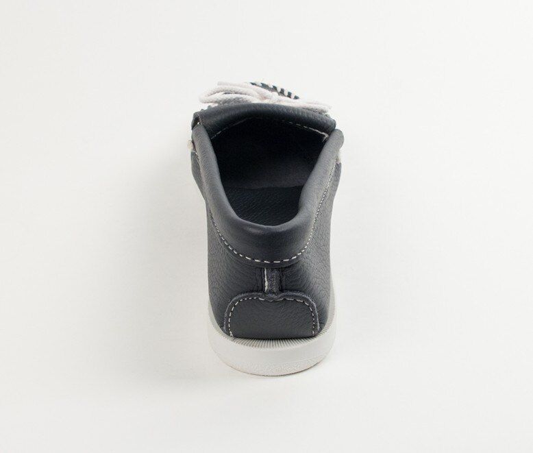 【Minnetonka 莫卡辛】藍色- 經典牛皮流蘇帆船鞋 4