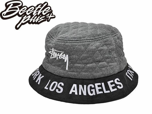 BEETLE STUSSY BUCKET HAT 黑色 黑灰 黑白 城市限定 限量 鋪棉 紐約 洛杉磯 巴黎 漁夫帽 232084 0