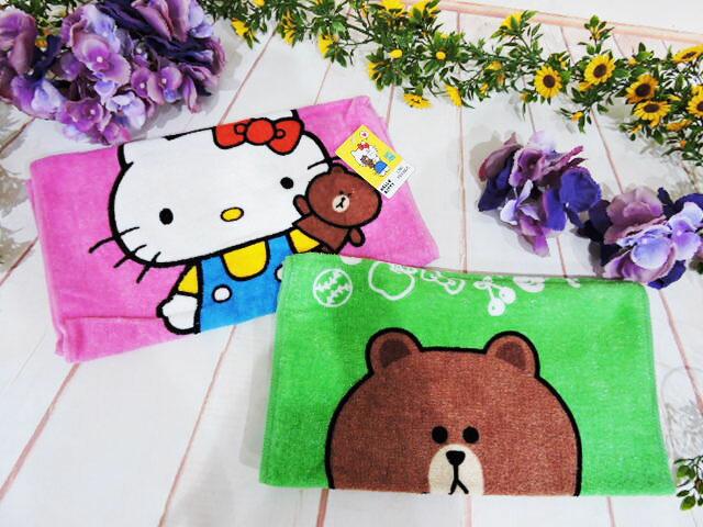 ^~^~MY 71^~^~ 絨毛娃娃 hello kitty line 毛巾 可愛凱蒂貓