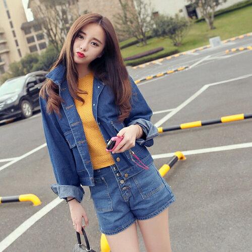 外套 - 短版雙大口袋牛仔丹寧外套【29187】藍色巴黎 - 現貨 + 預購 2