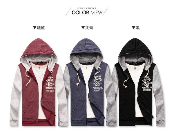 ☆BOY-2☆【OE10566】情侶美式休閒印花連帽棒球外套 1