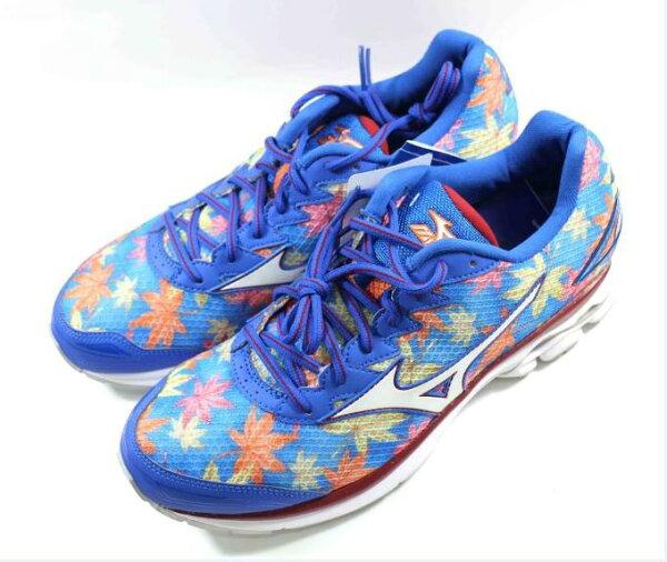 [陽光樂活] MIZUNO 富士馬拉松紀念鞋款 男慢跑鞋 WAVE RIDER 20 (Fuji) J1GC170802