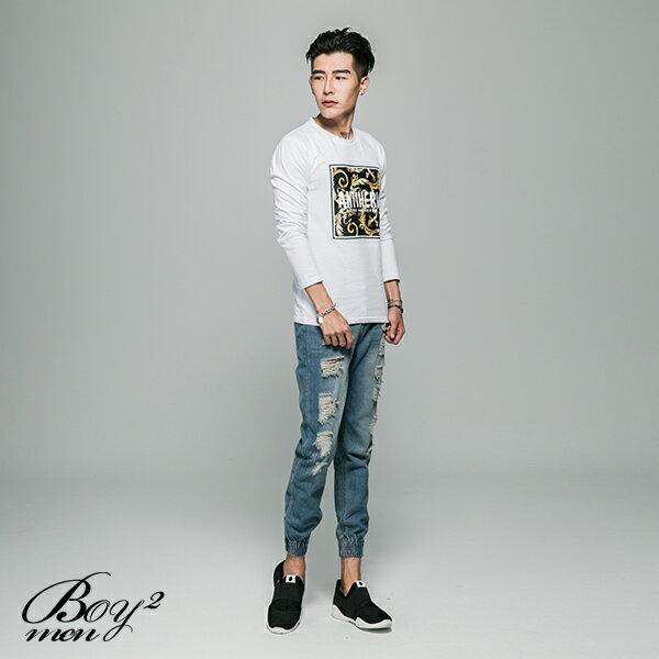 ☆BOY-2☆【JJ701】韓風ANTIHERO印花長T恤 2
