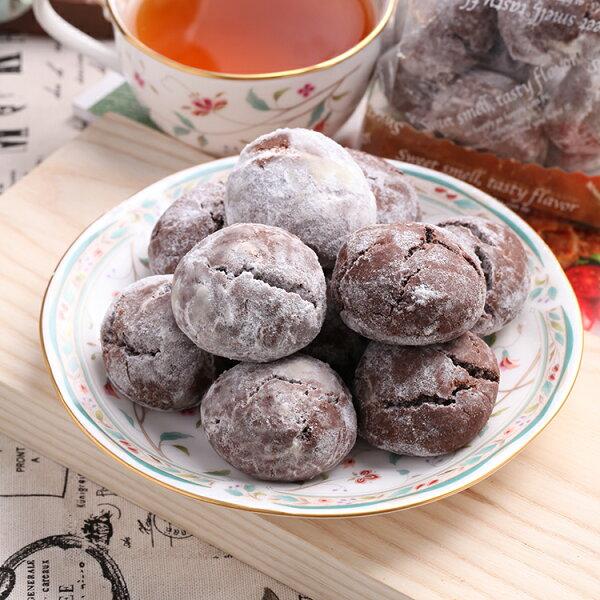 日式巧克力雪球手工餅乾(8顆)★香脆酥口【布里王子】