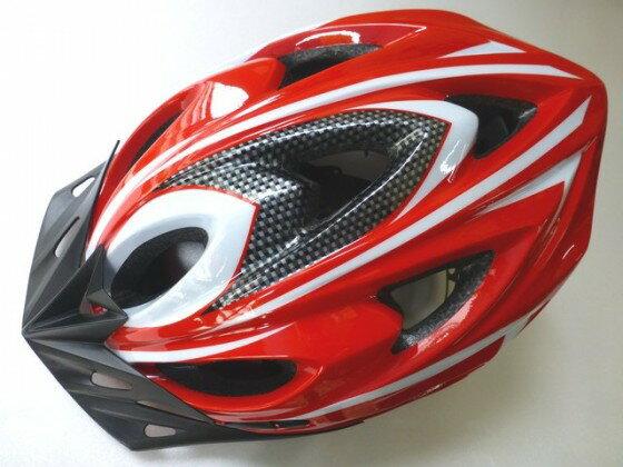 鉅盛 自行車安全帽 可調式 (紅色)《意生自行車》